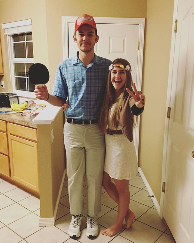 Pin for Later: 120+ Easy Couples Costumes You Can DIY in No Time Jenny and Forrest Gump