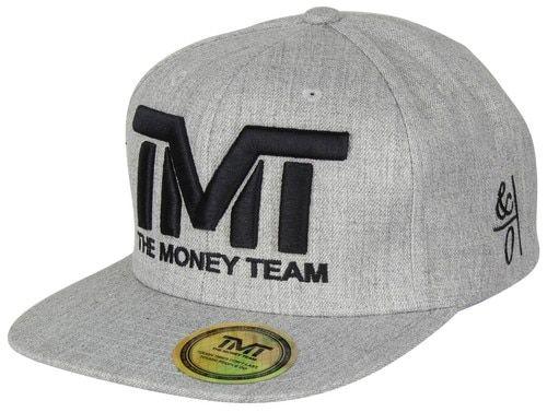 The Money Team TMT Floyd Mayweather Courtside Snapback Hat (Heather Gray/Black)