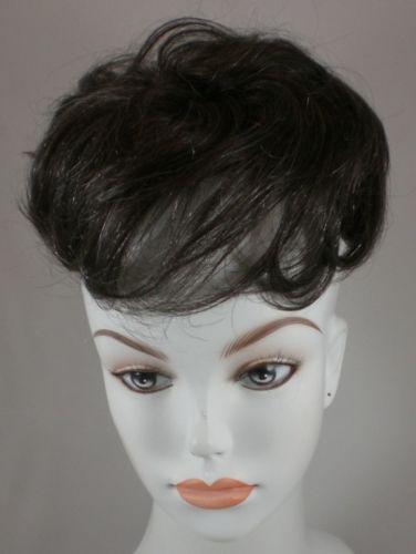100-Human-Hair-Pull-Thru-Wiglet-Filler-Enhancer-Piece-w-2-FREE-Clips-for-Base