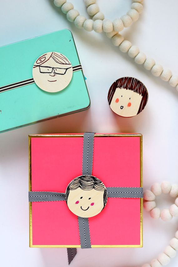 DIY: Easy Portrait Gift Tags by melanieblodgett for Julep