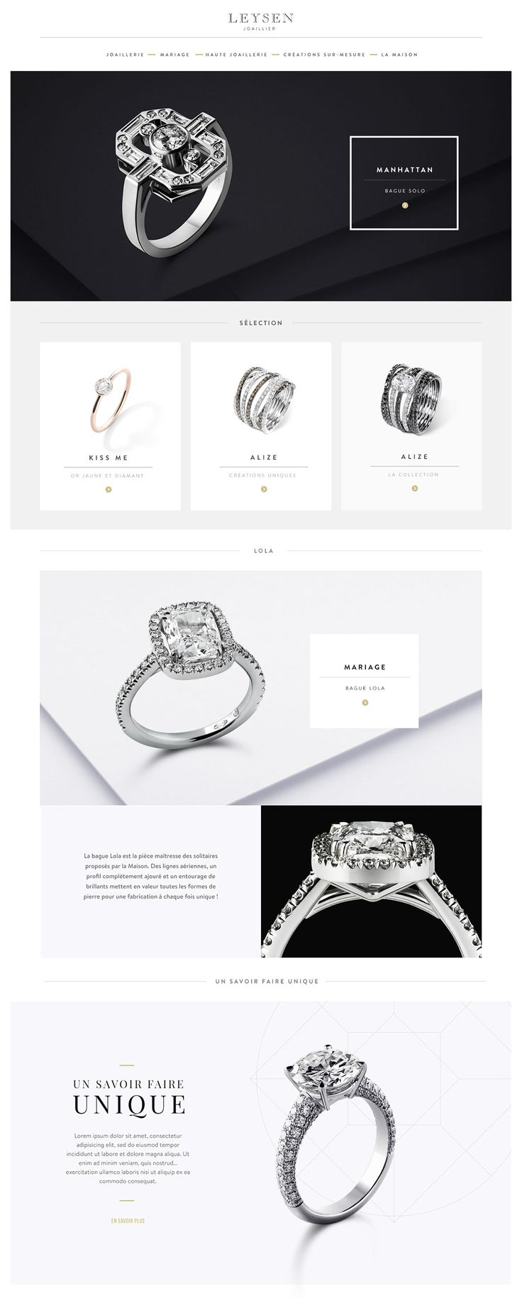 Jewellery maker Leysen brand new website