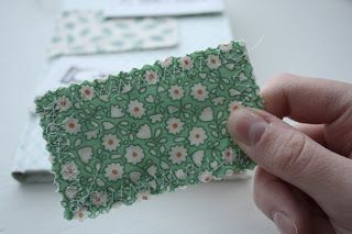 Stitched fabric-backed business cards