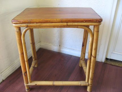 $35 Vintage BAMBOO STAND Cane Coffee Timber TABLE 49x33x53cm Text 0411691171 or email info@bitspencer.com