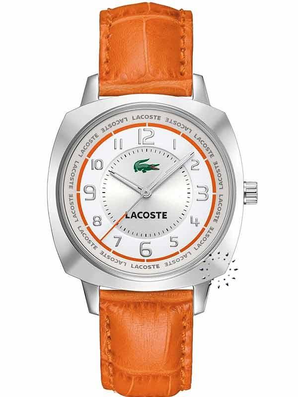 LACOSTE Sportswear Orange Leather Strap  119€  Αγοράστε το εδώ: http://www.oroloi.gr/product_info.php?products_id=16273
