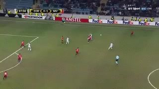 Sweet pass by Pogba for Zlatan's goal v Zorya. RedNation!