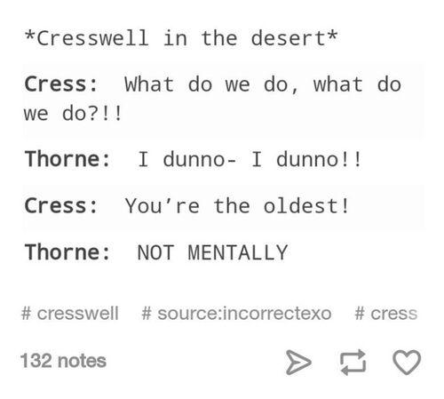 Cresswell in the dessert