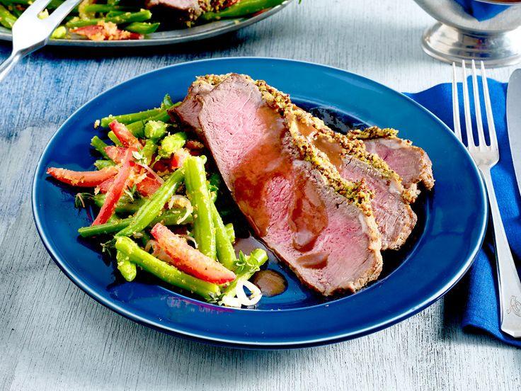 Roastbeef - Rezepte mit feinstem Rindfleisch - thymian-senf-roastbeef  Rezept