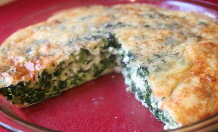 Λαχταριστή+και+πανεύκολη+πίτα+με+τυρί+και+σπανάκι+χωρίς+φύλλο