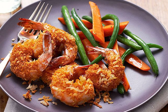This SHAKE 'N BAKE Coconut Shrimp is so sweet, crispy and magnificent, no one will believe it's a Healthy Living recipe!