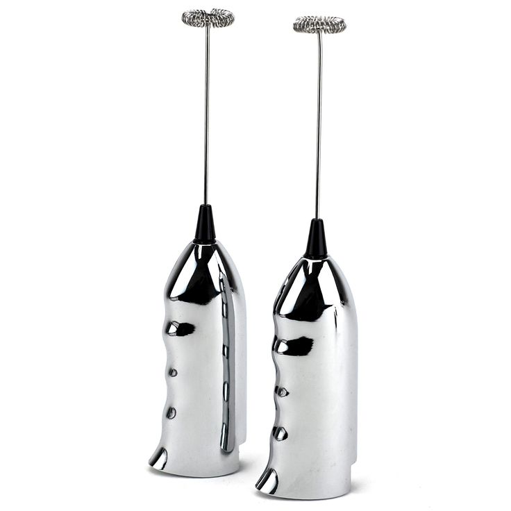 Cordless Frother Whisk, Handheld Electric Milk Frother, Silver (pack Of 2)