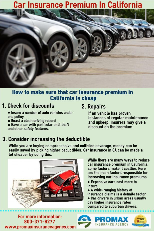 Auto Insurance Rates In California Are Usually Seen As The Most