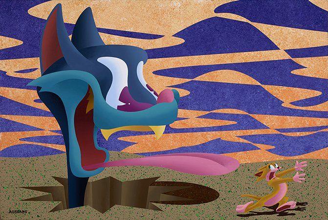 "ANTHONY AUSGANG ""It Happened on a Monday"" 2015Acrylic on Canvas 24 x 36 inch. #arcadeartgallery #arcadeartgallery#anthonyausgang #mgmt #popsurrealism #lowbrowart #lowbrow #kustomkulture#juxtapozmag #mgmt #fishbone#greenday #artillerymagazine#highfructosemag #artstagram #artist#artistsoninstagram #art #beautiful #instaart #instaartsy #instaartwork #instaartist #instaartpop #instaarthub #instaartoftheday #instaarte #instaarts #instaartistic #art #artwork #artist #artshow #artgallery"