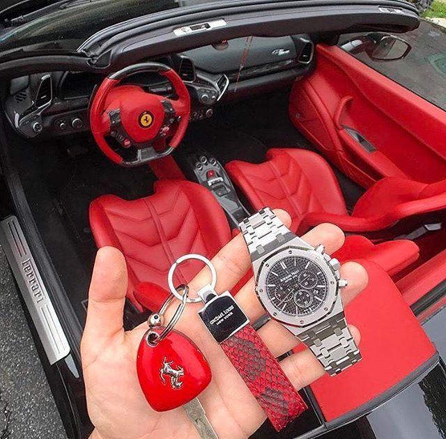 @michael_louis_ #ClassicKeyHolder in Red Python X Audemars Piguet X Ferrari 458  via LUXURY LIFESTYLE MAGAZINE OFFICIAL INSTAGRAM - Luxury  Lifestyle  Culture  Travel  Tech  Gadgets  Jewelry  Cars  Gaming  Entertainment  Fitness