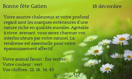 Gatien http://www.prenoms.com/v2/services-prenom/signification-prenom.asp ♥ Voyance Privée au 04.93.44.68.72 www.chantalemedium.com Avec le médium de votre choix au 01.72.76.09.38 (Offre Spéciale 10€/10min) FORUM VOYANCE GRATUITE  08.99.19.97.19   Audiotel France DOM-TOM 08.92.68.23.88  http://www.chantalemedium.com/horoscope/  Vos chiffres de chance http://www.chantalemedium.com/horoscope-du-mois-et-num%C3%A9ros-de-chance/ Facebook PRO Chantale Pure Médium Azur Astro Voyance Conseils…