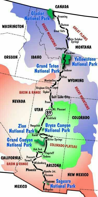 check out some us national parks grand canyon mapbryce