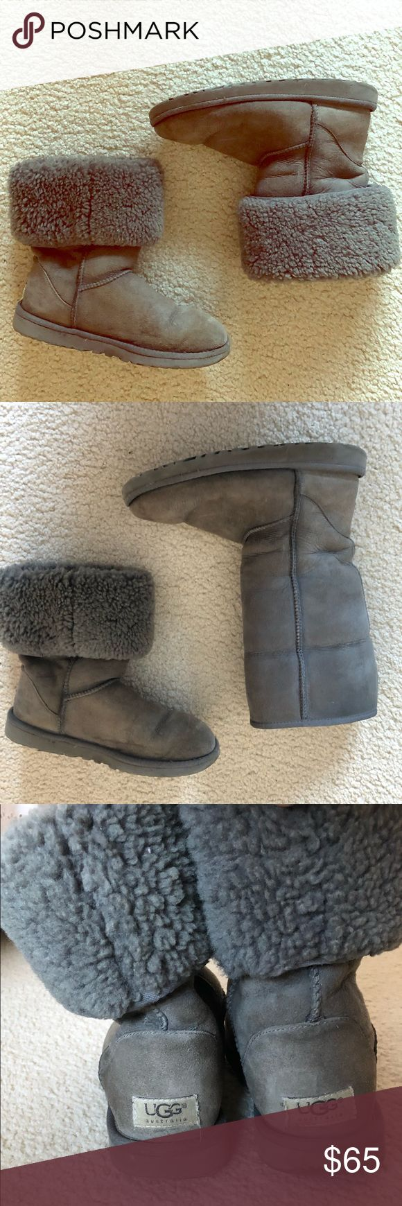 Tall grey UGG boots Tall grey ugg boots. Size 7. Gently worn UGG Shoes