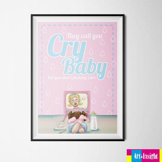 Melanie Martinez Cry Baby Poster PRINTABLE by ArtInsightStore