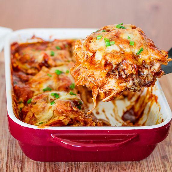Easy Chicken Enchilada Casserole - Jo Cooks