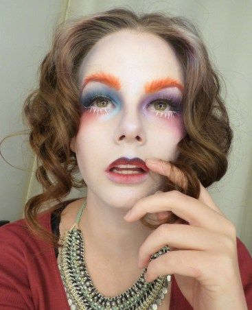 Mad Hatter inspired Look. #lips #madHatter #mad #hatter #aliceinwonderland #halloween #inspiredlook #belial #angelsactuary #beauty #makeup #ombre #Eyebrows