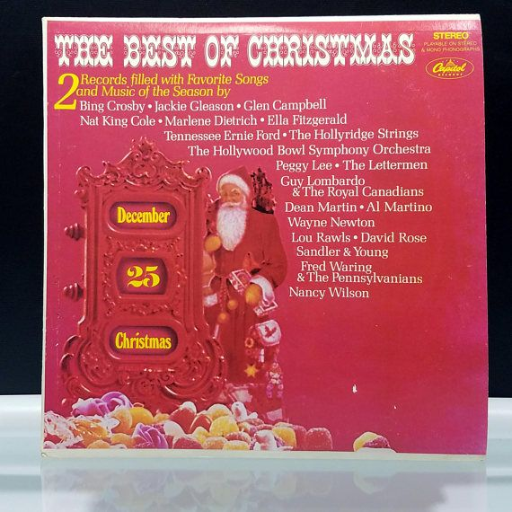 The Best of Christmas Double LP 2 Vinyl Records Filled with