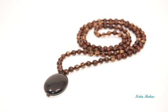 TREE LOVER MALA  Handknotted 6mm patikan wood 108 by NaiaMalas