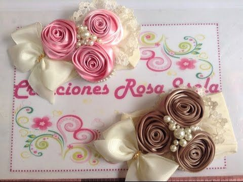 Tiara de rosas con perlas Creaciones Rosa Isela VIDEO No. 233 - YouTube
