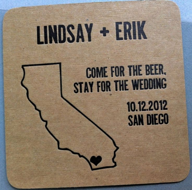 come for the beer, stay for the wedding! teehee