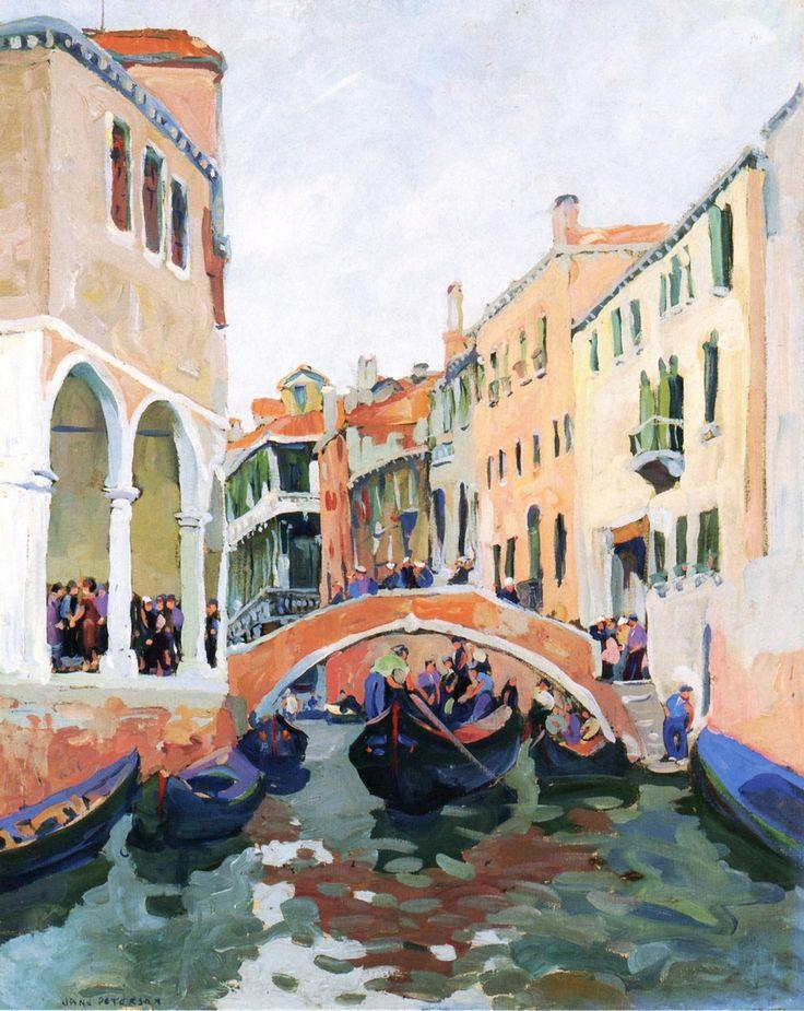 """Venetian Canal ~ Jane Peterson """