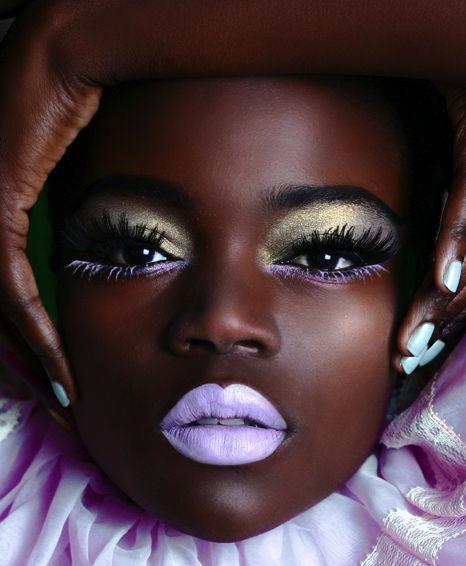 .Beautiful Makeup, Limes Crime, Stunning Makeup, Fashion Models, Dark Skin, Flawless Skin, Black Women, Black Girls, Crazy Makeup