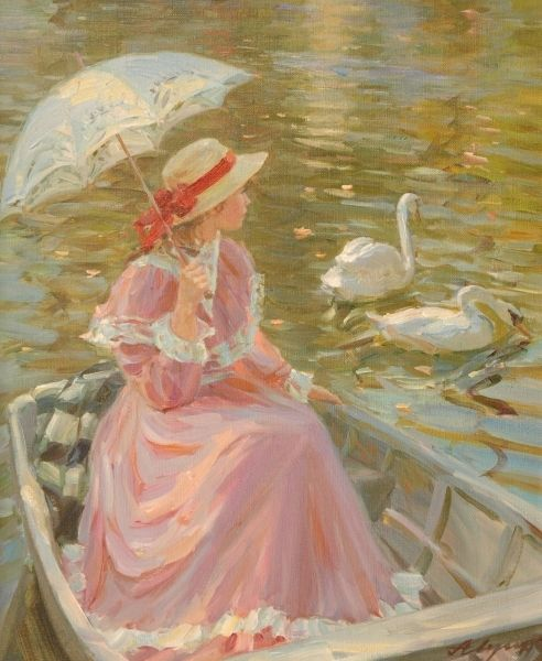 Alexander Averin - Watching the Swans