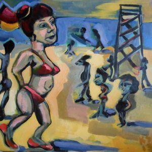 Title: Redhead Beach Medium: Acrylic on canvas Size: 425x425cm Price: $290