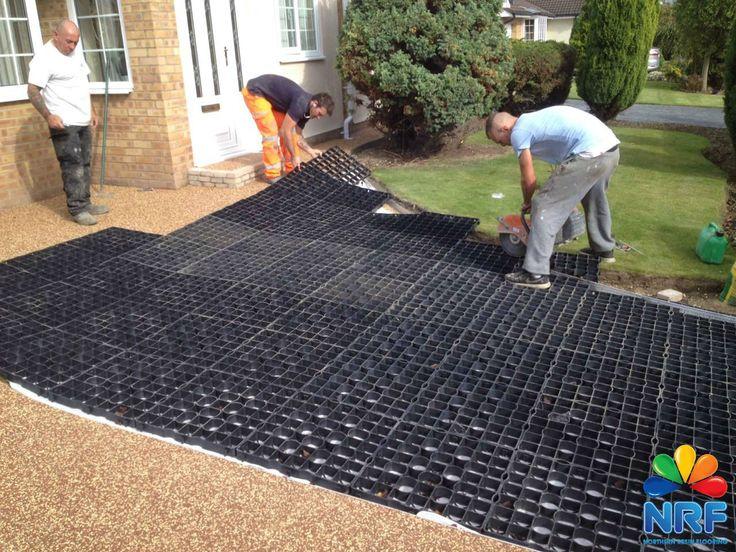 grid system being installed by northern resin flooring. Black Bedroom Furniture Sets. Home Design Ideas