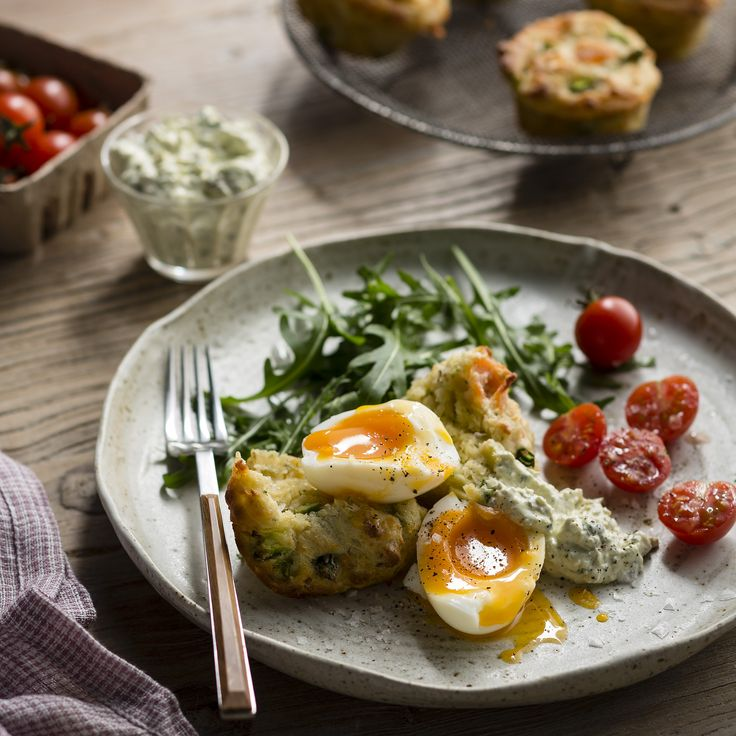 """Thermomix   Smoked salmon muffins with steamed eggs and herbed relish   Entertaining with Dani Valent cookbook + recipe chip   """"Brunch"""" menu plan  """