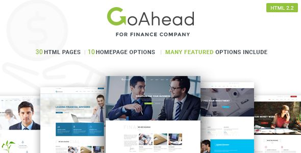 GoAhead – Finance & Business HTML Template is a clean and modern Template for any finance & business corporation like Finance, Accountant, Consulting Firms, Insurance etc.         It comes with 30 ...