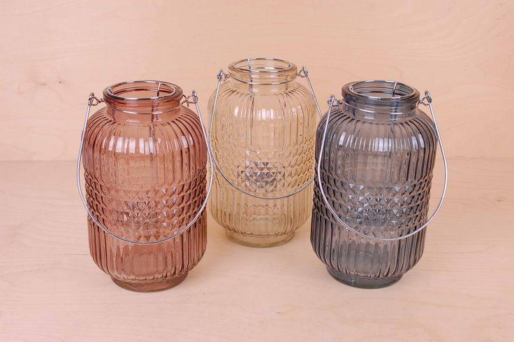 Lanterne, farget glass - UPSTAIRS - ting og tang til lave priser