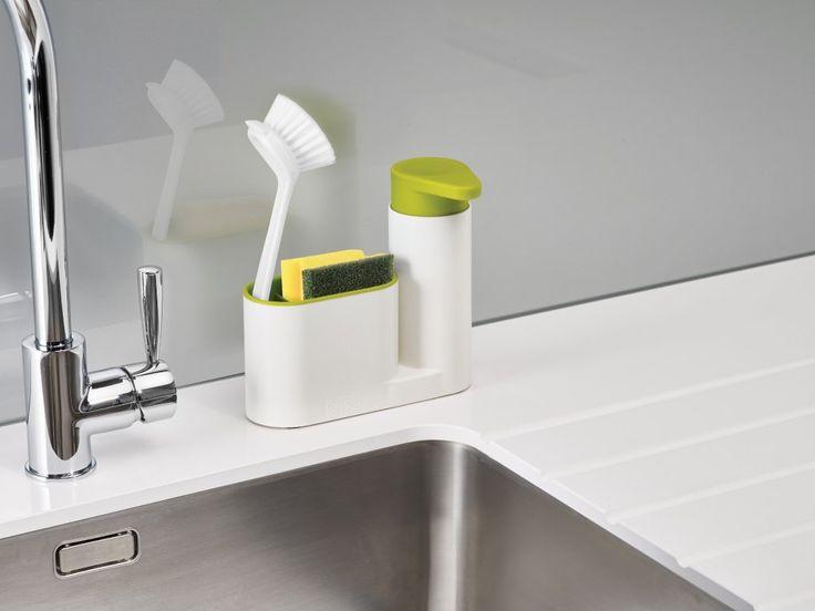Stojánek na mycí prostředky JOSEPH JOSEPH SinkBase™ | bílý. Stojánek na mycí prostředky