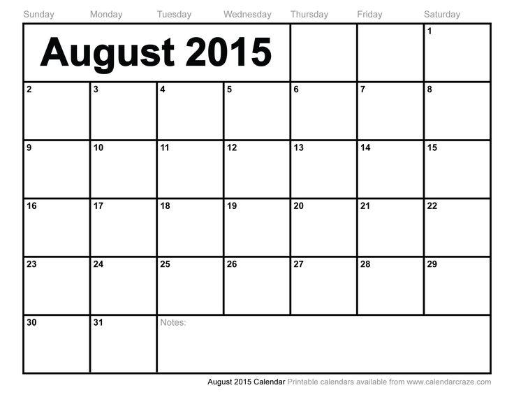 july august 2015 calendar