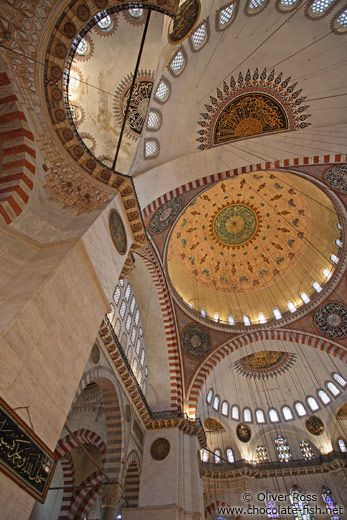 Suleymaniye Mosque, Istanbul. Designed by the famed Ottoman architect, Mimar Sinan.
