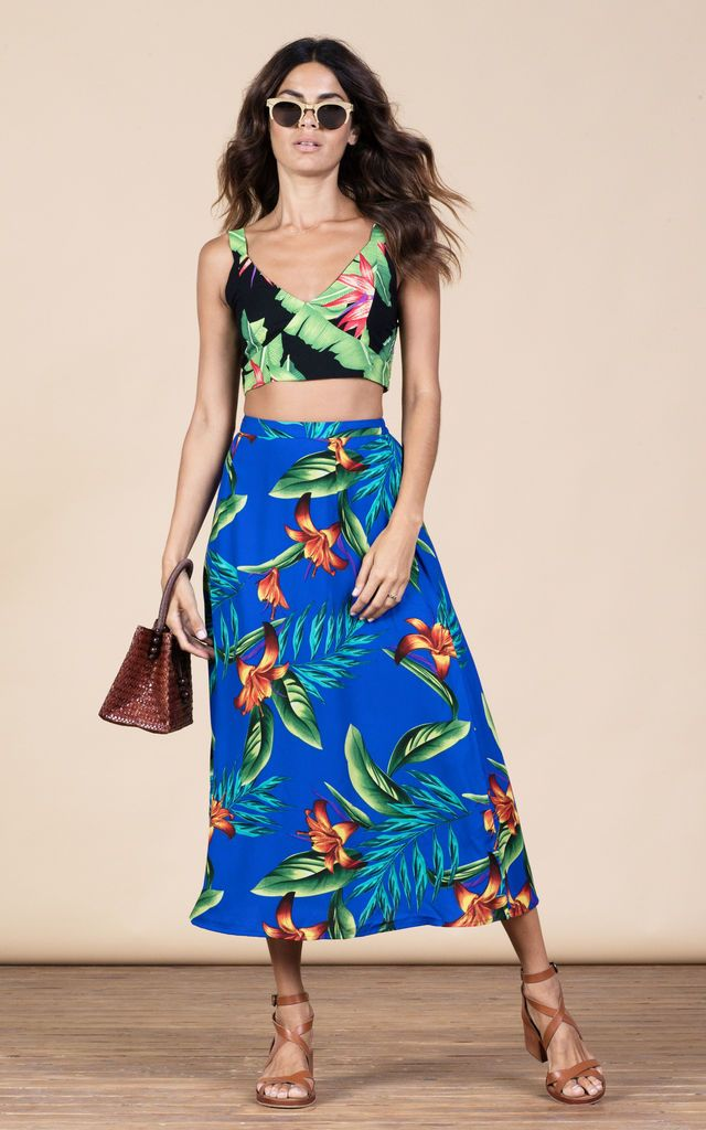 Click to view Ariel Skirt in Blue Tropical