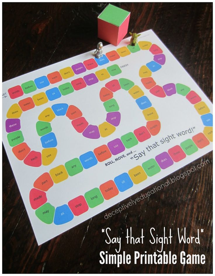Super Simple FREE Printable Sight Word Game for kids. A playful reading game!