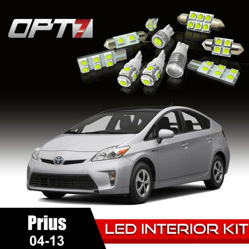 12pc Interior LED Replacement Light Bulbs Package Set for 04-13 Toyota Prius | White