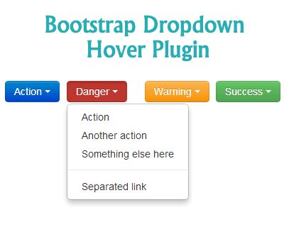 Bootstrap Dropdown on Hover Plugin  #bootstrap #examples