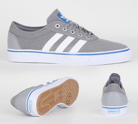 Adi Ease Trainer Adidas Originals Adi Ease Trainers in Aluminium White and  Bluebird. The Adi