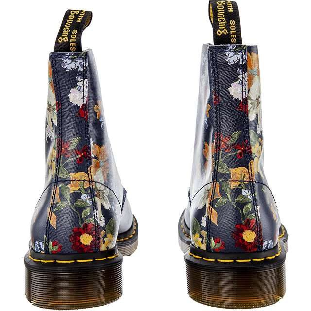 Glany Damskie Drmartens Dr Martens Darcy Floral 1460 Pascal Dm S Navy Dr Martens Rubber Rain Boots Martens