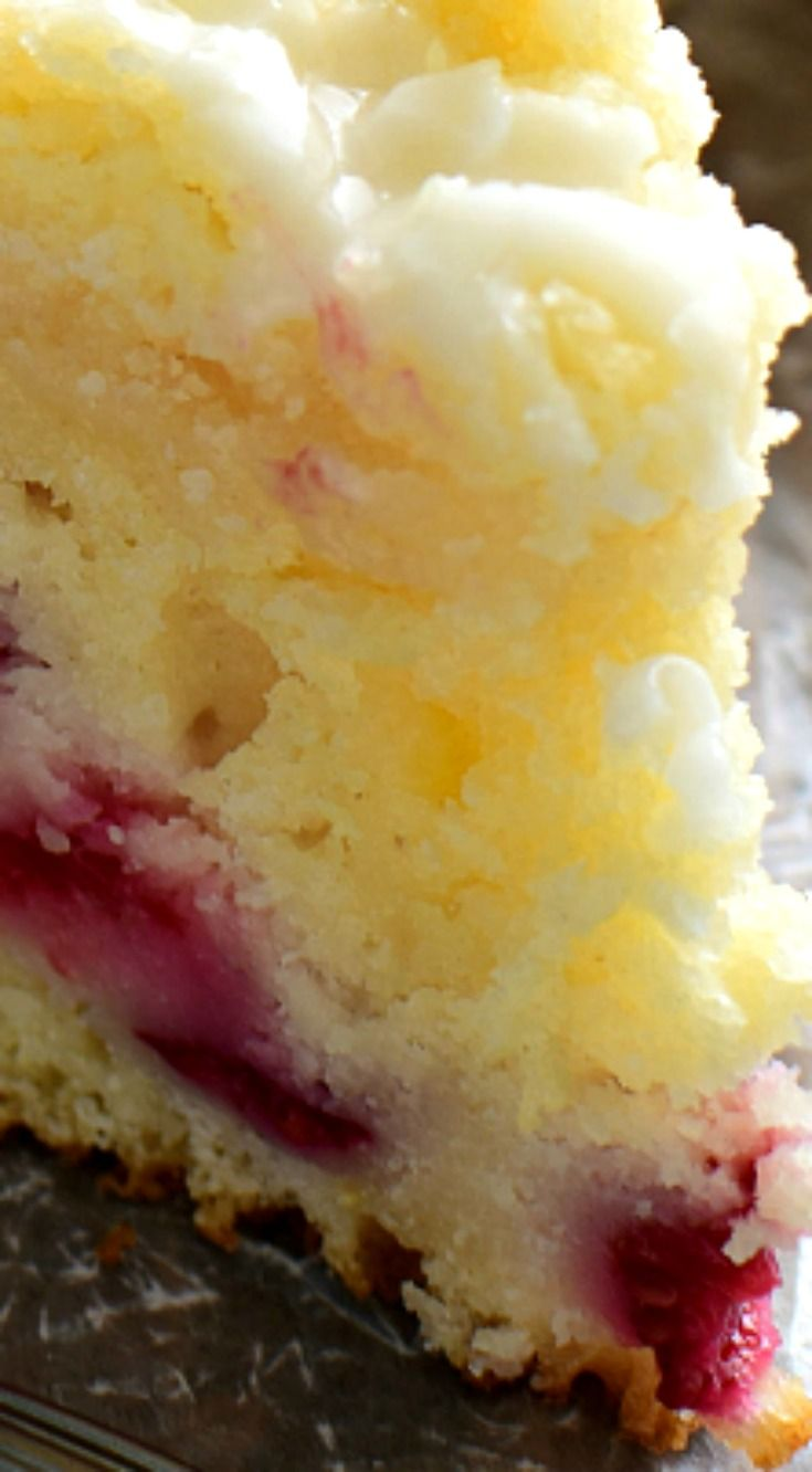 Lemon Raspberry Coffee Cake ~ Packed with the delicious flavors of lemon and raspberries and topped with a sweet, buttery streusel...  The perfect cake for spring!