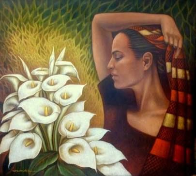 pinturas flores alcatraces ile ilgili görsel sonucu