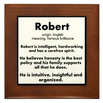 Robert Name Meaning design Framed Tile