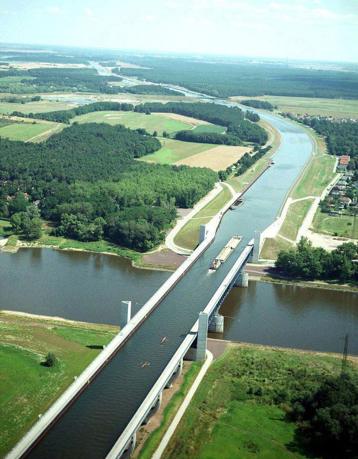Magdeburg Water Bridge Germany river over river!