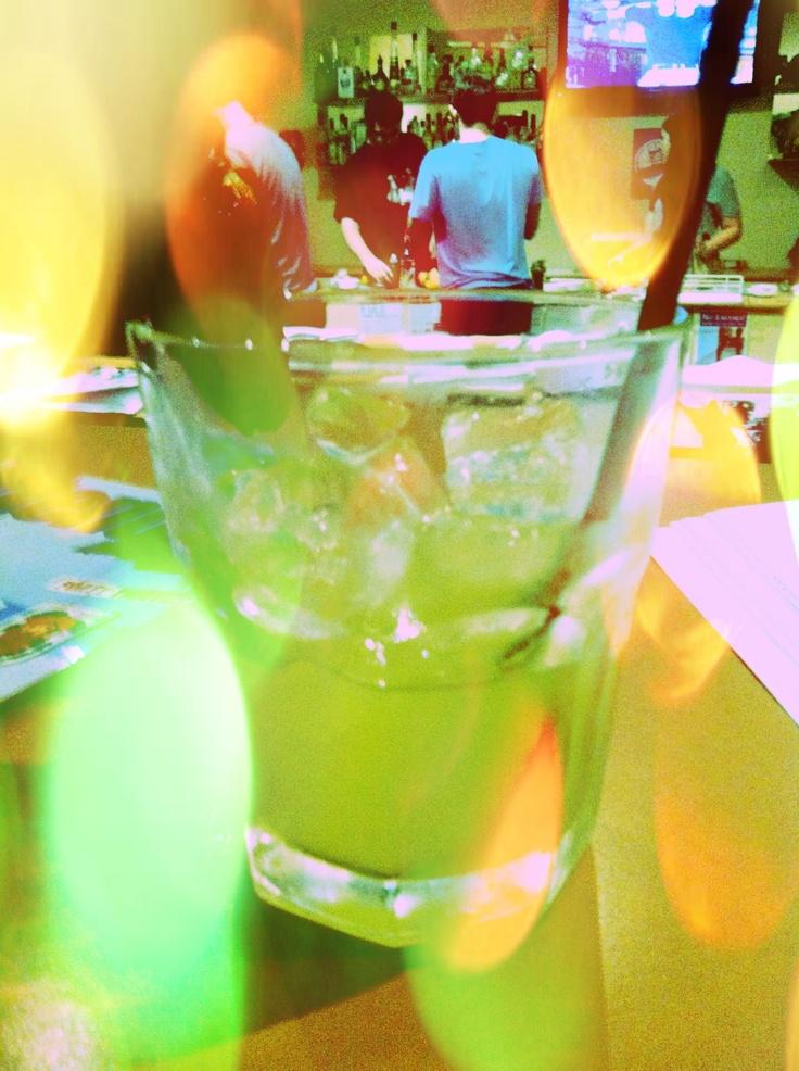 Kiwi fruit and vodka based drink