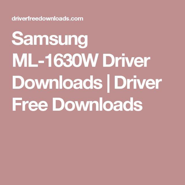Samsung ML-1630W Driver Downloads | Driver Free Downloads